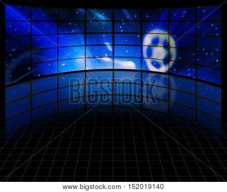 Video Screens  3D Render