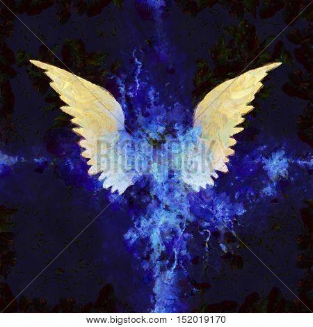 Wings Painting  3D Render