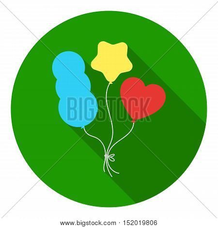 Baloons icon in flat style isolated on white background. Circus symbol vector illustration.