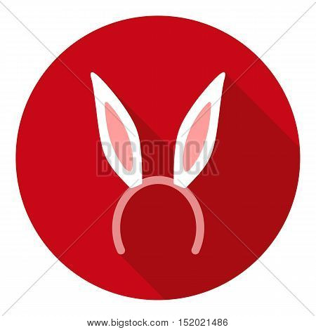 Bunny headband icon in flat style isolated on white background. Hats symbol vector illustration.