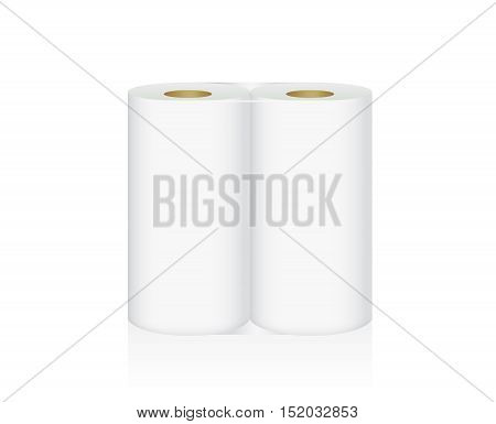White Tissue Paper includes 2 roll in pack blank label and no text for mock up packaging