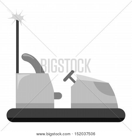 Bumper car icon in monochrome style isolated on white background. Play garden symbol vector illustration.