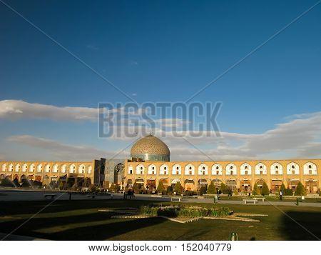 Naqsh-e Jahan Square and Sheikh Lotfollah Mosque Esfahan Iran