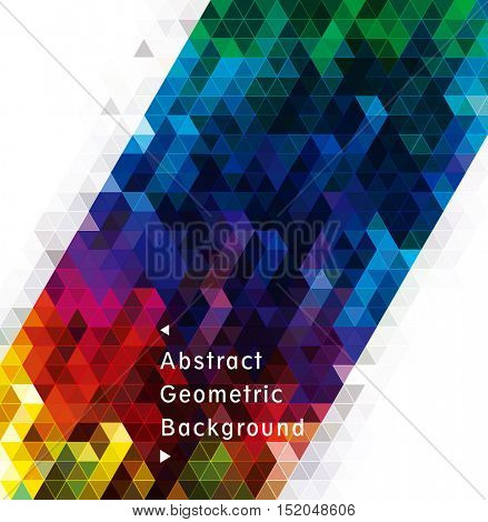 Abstract geometric shape colorful modern background.