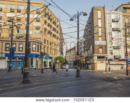 Fatih Istanbul Turkey - September 10 2016: People in the morning city.
