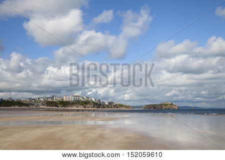The beach at Tenby, Wales, Great Britain
