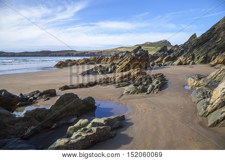 Whitesands Bay in Pembrokeshire, Wales, Great Britain