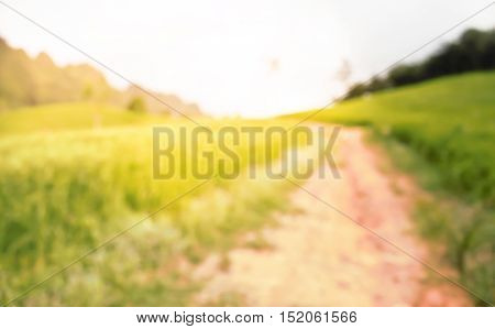 Landscape on the mountain blur background. for design.