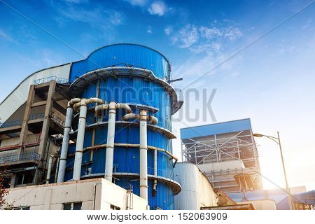 Thermal power plant flue gas purification device
