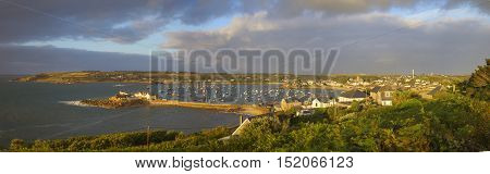 St Mary's Harbour, Isles of Scilly, England.