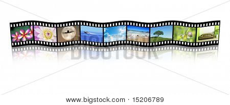A film strip with nice pictures