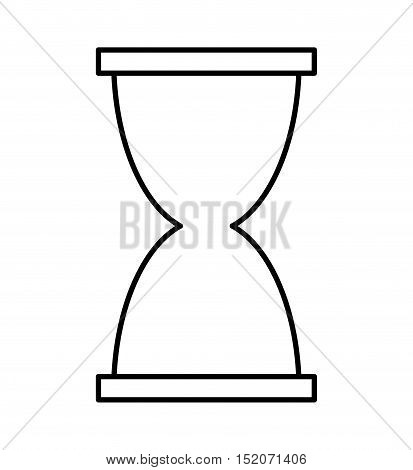 hourglass time isolated icon vector illustration design
