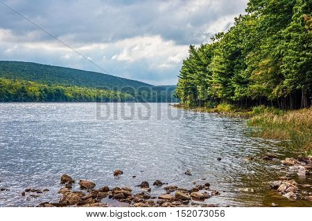 Scenic Mauch Chunk Lake in Jim Thorpe Pennsylvania.