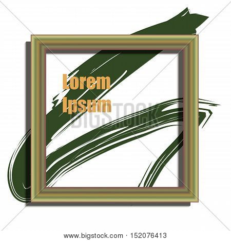Wooden frame design with stains paint and place for text. Wallpaper background for your content. Eps 10 stock vector illustration