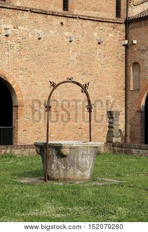 Old Well To Collect Rain Water In The Pomposa Abbey