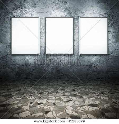 An image of a nice floor with 3 frames for your content