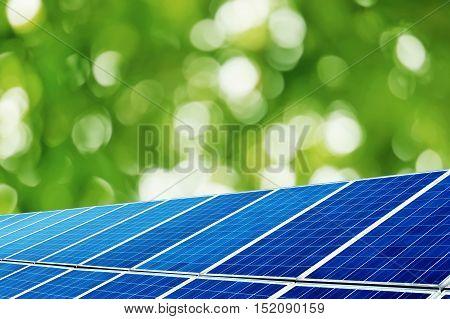 Solar panels in new energy power plants.