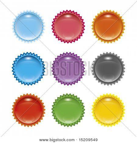 A set of stylish web star icons