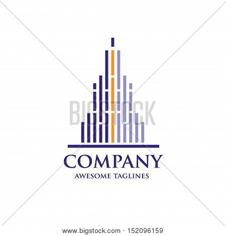 abstract simple elegant and modern real estate logo , abstract skyline logo oncept