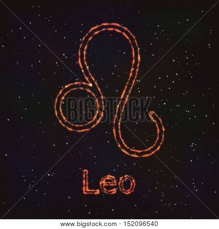 Astrology Shining Symbol. Horoscope Sign. Zodiac Leo.