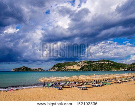 Agios Georgios beach on Corfu Greek island