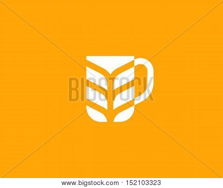 Stylized mug of beer shape. Beer idea creative concept