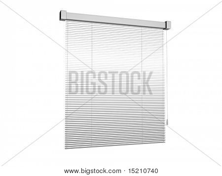 plastic sun blinds isolated on white