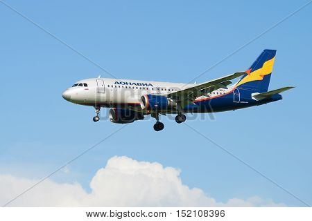 SAINT PETERSBURG, RUSSIA - AUGUST 24, 2016: Airbus A319-111 (VP-BNJ)