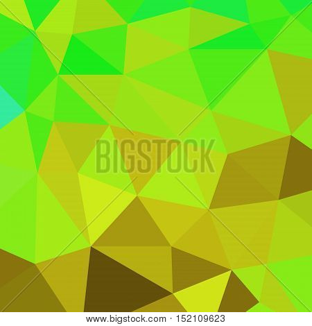 abstract vector geometric triangle background - yellow and green