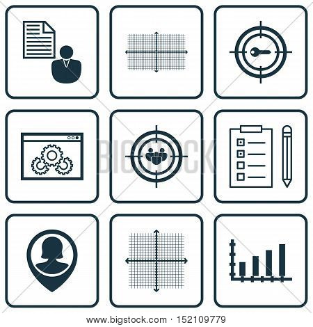 Set Of 9 Universal Editable Icons For Marketing, Human Resources And Statistics Topics. Includes Ico