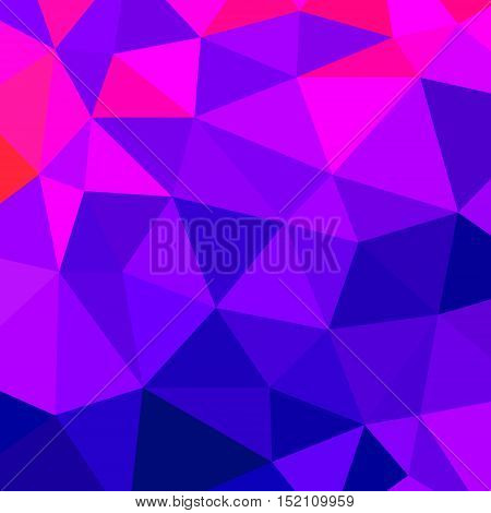 abstract vector geometric triangle background - blue and violet