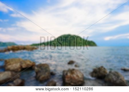 Abstract blur beautiful seascape. Sea and rock Nature composition