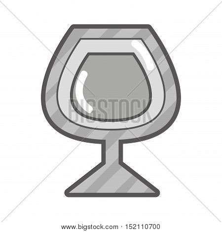 cocktail cup liquor drink over white background. vector illustration
