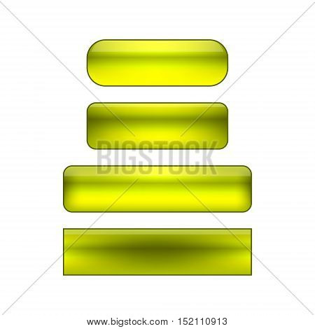 vector isolated blank web buttons set - green and yellow