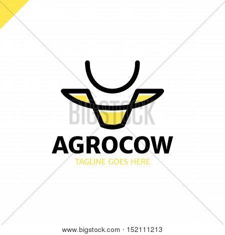 Cow Or Bull Simple Line Logo