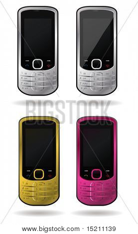 vector colored cell phone