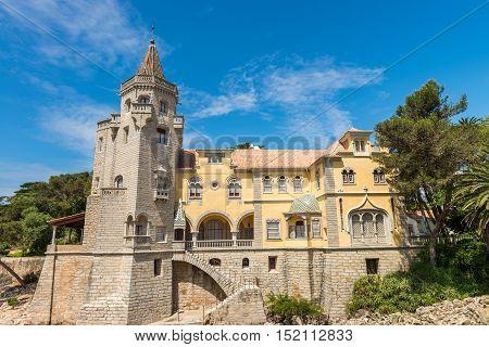 Building Of The Museu Condes De Castro Guimaraes In Cascais