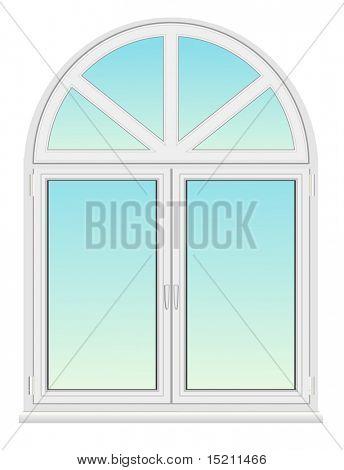 vector arc plastic window isolated