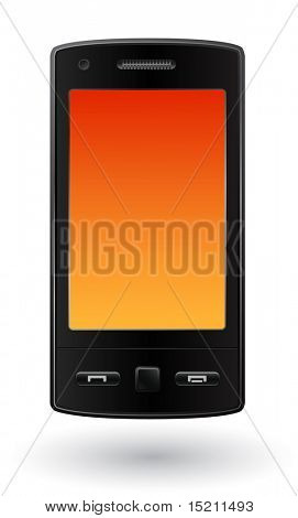 modern mobile smart phone isolated on white