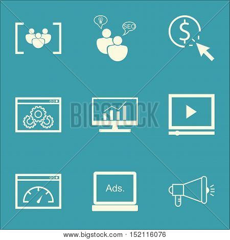 Set Of Marketing Icons On Website Performance, Loading Speed And Ppc Topics. Editable Vector Illustr