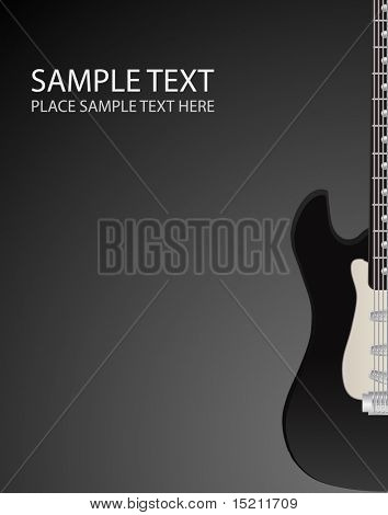 vector rock guitar background