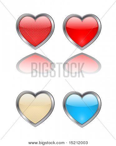 vector heart button