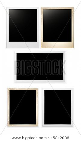 vector blank photo cards set