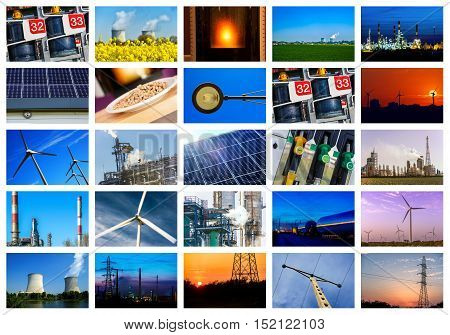 Collage of Power and energy concepts and landscapes
