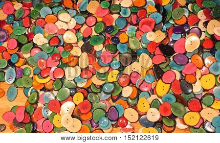 Background Of Colorful Buttons