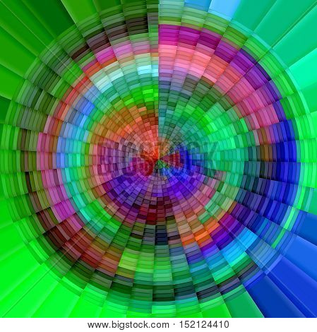 Abstract coloring background of the abstract gradient with visual mosaic, cubism and poolar coordinates effects