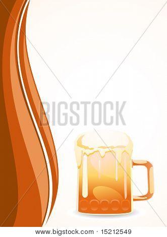 vector beer mug poster
