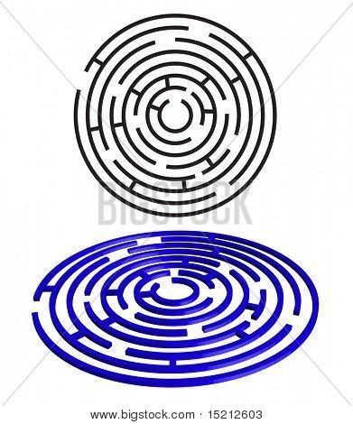 vector round maze