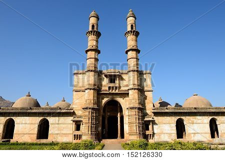 Champaner - Pavagadh Archaeological Park is a historical city in the state of Gujarat. Jami Masjid mosque. (UNESCO)