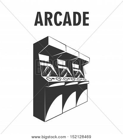 Arcade Machine. The Video Game Room. Vector Illustration